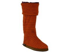 MUK LUKS® Button Cuff Boot, Orange/Purple