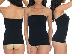 Strapless Upper Body Shaper, Black