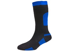 Thin Mid-Length Sock - Black/Blue