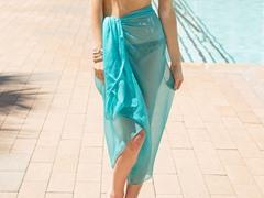 Sheer Sarong Turquoise