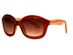 Kendall Sunglasses, Dark Brown Scatter