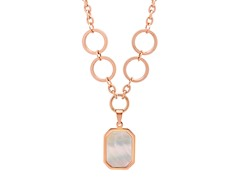 18kt Rose Gold Plated MOP Necklace