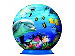 72-Piece Ocean World 3-D Puzzle Ball