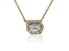 Riccova Retro Layering 14K Gold Pl Necklace CZ Clear Glass Accent Set