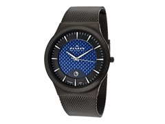 Men's Black and Blue Titanium Watch