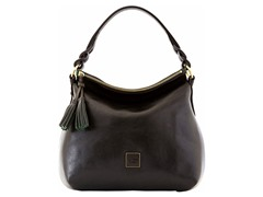 Florentine Twist Strap Hobo, Black
