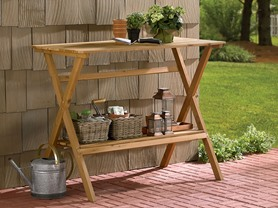 Simple Potting Bench and Console Table