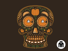 Pumpkin Day of the Dead Zip-Up Hoodie
