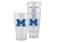 Montana St Plastic Pint Glasses 4-Pk