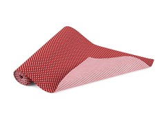 """Spots & Stripes Red 13x72"""" Runner-Red"""