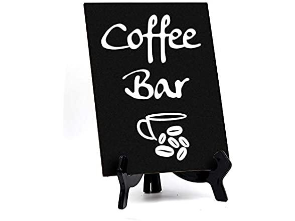 Coffee Bar, Table Sign