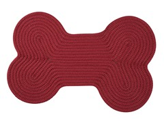 Sangria Solid Dog Bone Rug - 3 Sizes