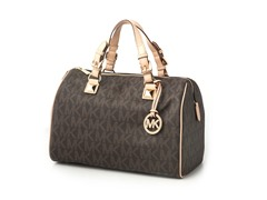 Michael Kors Logo Grayson Large Satchel, Brown