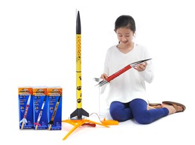 Estes Ready-to-Fly Rocket Bundle (Helicat + 3 Rockets)
