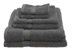 Pinzon Egyptian Cotton 725GSM 6Pc Towels-Grey
