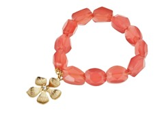 Relic Pink Flower Charm Bracelet, Gold