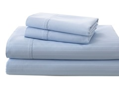 700TC Damask Stripe Sheet Set-Sky Blue-3 Sizes