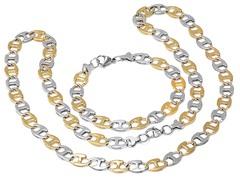 Men's Bracelet and Necklace Set