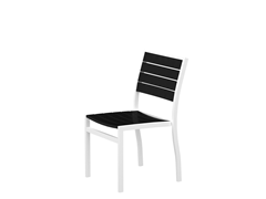 Euro Dining Chair, White/Black