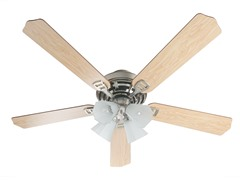 52-Inch Satin Nickel Ceiling Fan With Light Kit