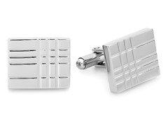 Square Cufflinks w/ Texture Accent