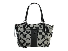 Coach Signature Stripe Tote, Black
