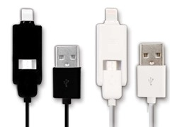microUSB & Lightning Universal USB Cable