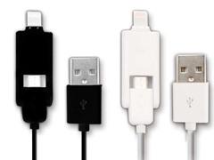 microUSB & Lightning Universal USB Cable