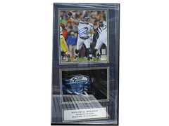 Signed Shadowbox W/Mini Helmet -Wilson