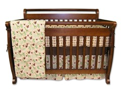 Jungle Jam Crib Bedding Set- 4 Piece
