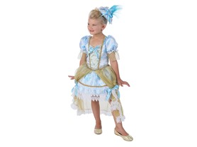 Princess Paradise Girl's Madame Florence Costume, White/Blue/Gold, Small
