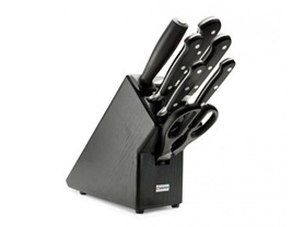 Wusthof Classic 8 Pc Block Set-Black