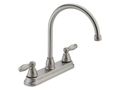 Two Handle Kitchen Faucet, Stainless