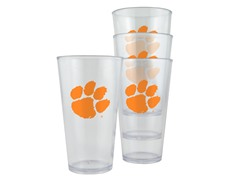 Clemson Plastic Pint Glasses 4-Pk