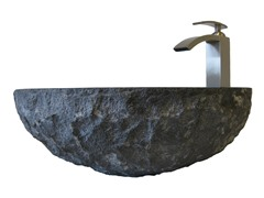 Granite Vessel Sink w/ Faucet, Nickel