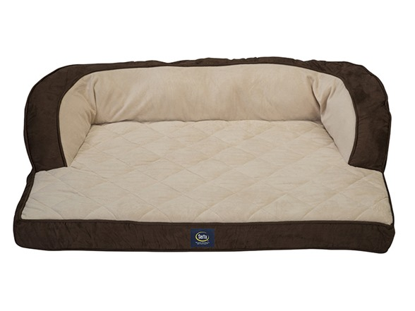 Couch Dog Bed With Memory Foam Brown
