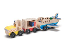 Whittle World - Plane and Luggage Carrier Set