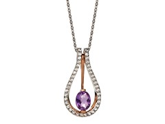 Zeghani Collection Amethyst Pendant