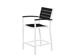 Euro Counter Chair, White/Black