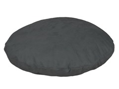 "Passion Suede Charcoal 35"" Round Pet Bed"