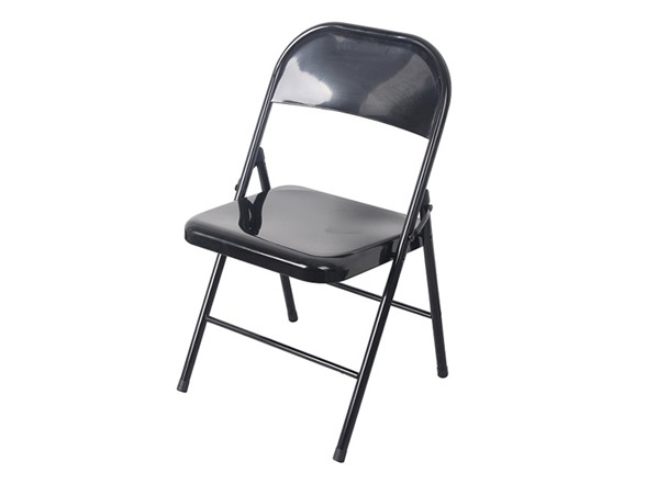 Black All Metal Folding Chair Black