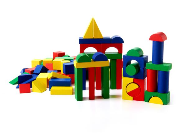 Colored Wood Blocks ~ Colored wood block set kids toys