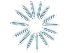 Heavy Duty Galvanized Springs - Set of 15 - Various Sizes