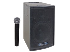 "8"" Battery Powered PA System w/ Wireless Mic"