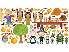 Mona MELisa Designs Peel & Play Thanksgiving