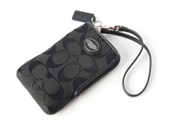 Coach Legacy N/S Signature Universal Case, Black