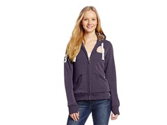 USPA Jrs Fleece Jacket Faux Fur, Violet