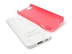 uNu Ecopak iPhone 5 Battery Case-Wht/Red