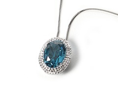 Light Blue Oval Pendant