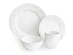American Atelier Mina White 16 Pc Dinnerware Set
